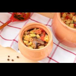 Рецепт: Овощное рагу в горшочке