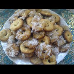 Рецепт: Овсяные колечки с кокосовой стружкой