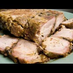 Рецепт: Свинина в мультиварке запеченая
