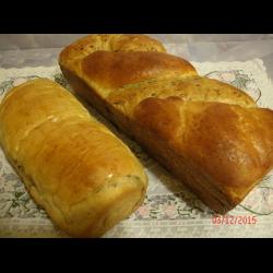 """Рецепт: Двойной хлеб """"Выдумка"""""""