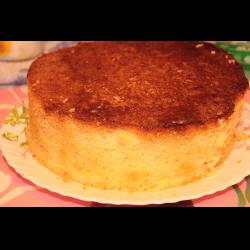 как приготовить торт бисквитный двух цветов