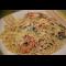 Фото Спагетти с королевскими креветками в сливочном соусе