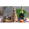 Фото Новогодняя елочка из безе с цветными шариками