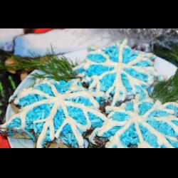 """Рецепт: Новогодняя закуска """"Снежинки"""""""