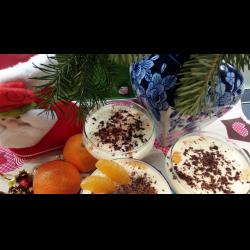 """Рецепт: Десерт """"Мандарины в снегу"""""""