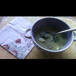 Рецепт: Суп из говяжьих почек с плавленным сыром