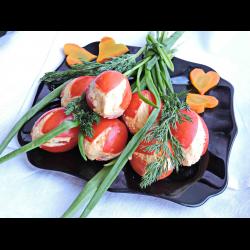 Фаршированные помидоры с крабовыми палочками тюльпаны рецепт