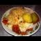 Фото Картофельное пюре с тушеной капустой