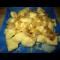 Фото Картофельные галушки с соленым салом и луком