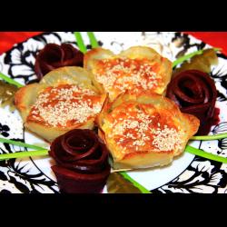 """Рецепт: Праздничная закуска """"Картофельные цветы"""""""