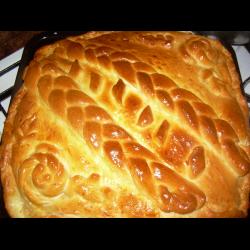 пирог с мясом и картошкой из готового дрожжевого теста рецепт с фото