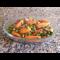 Фото Мини-морковки с горохом и беконом