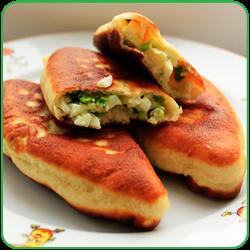 Рецепт жареные пирожки с яйцом и зеленым луком