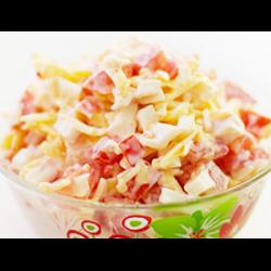 Рецепт: Салат с крабовым мясом