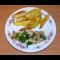 Фото Пикантная рыба с запеченным картофелем