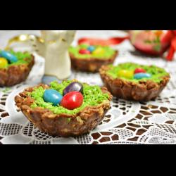 Рецепт: Пасхальные шоколадные гнезда