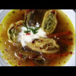 Рецепт: Суп с мясными улитками