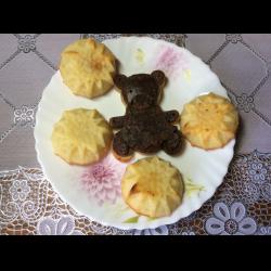 Рецепт: Бисквитно-творожное печенье