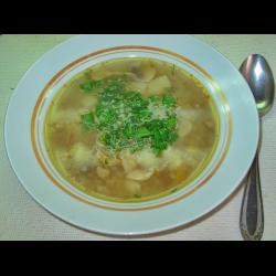 Рецепт: Гречневый суп с шампиньонами