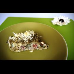 Рецепт: Запеканка из шпината и индейки