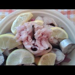 Рецепт: Скумбрия маринованная в лимонах