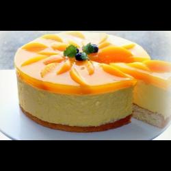 Рецепт: Торт бисквитный с творожным суфле