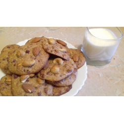 Рецепт: Овсяно-ореховое печенье