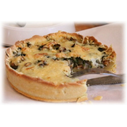 Рецепт: Пирог с сыром и грибами
