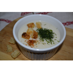 Рецепт: Суп-пюре с сыром и рисом