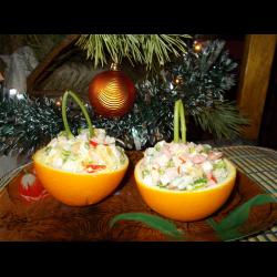 Рецепт: Салат новогодний