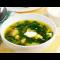 Фото Зеленый суп с крапивой, мангольдом и щавлем
