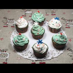 Рецепт: Новогодние капкейки