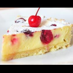 Рецепт: Творожный пирог с вишней