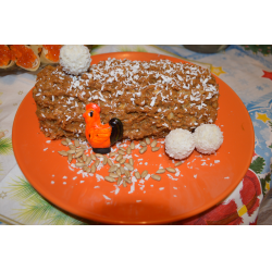 Торт полено бисквитное тесто