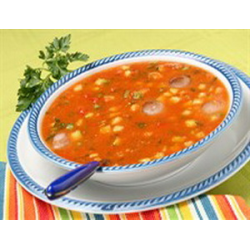 Рецепт: Суп с белыми грибами, фасолью и кукурузой