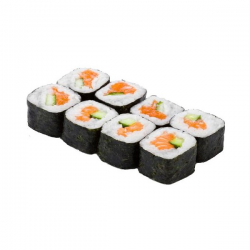 Рецепт: Суши из копченого лосося и огурца