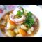 Фото Тушеный картофель с морепродуктами