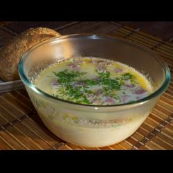"""Рецепт: Сырный суп """"Дыхание осени"""""""