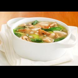 Рецепт: Грибной суп с куриными крылышками
