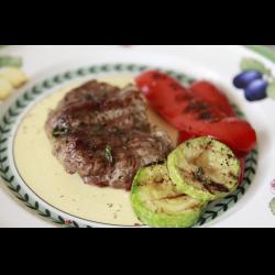 Фото Мясо гриль с овощами