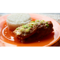 Фото Запеченная радужная форель с соевым соусом