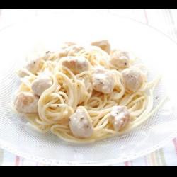 Рецепт: Спагетти со сливочной курицей