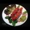 Фото Филе индейки гриль с беконом и соусом из авокадо