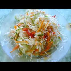 Рецепт: Салат из маринованной капусты