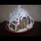"""Фото Новогодний торт """"Зимняя избушка"""""""