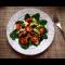 Фото Салат с курицей, грибами, помидорами черри