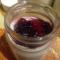Фото Коричный йогурт с черносмородиновым вареньем
