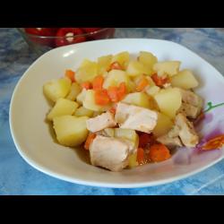 Рецепт: Картошка с мясом