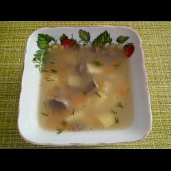 Рецепт: Суп с куриными потрохами