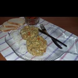 Рецепт: Минтай с рисом и овощами